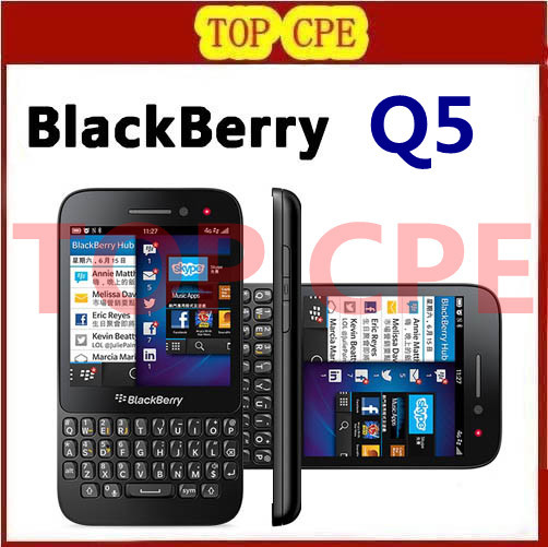 Blackberry OS Smartphone QWERTY Keyboard Q5 Blackberry Refurbished Original mobile phone 2G Ram+8G Rom 5.0MP Camera(China (Mainland))