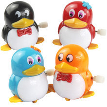 free shipping Small toy penguin chain wind up animal  toys(China (Mainland))