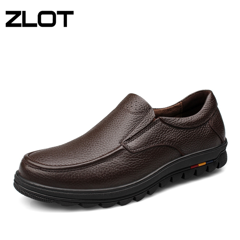 ZLOT Big Size 38-47 Mens Dress Italian Leather Shoes Genuine Leather Slip On Men Mocassins Shoes Classic Formal Man Shoes(China (Mainland))