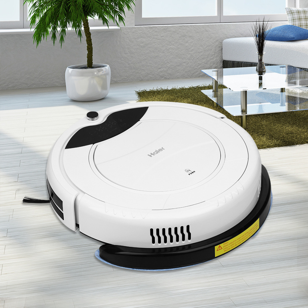 2016 Haier Pathfinder Smart Cleaning Robot Floor Cleaner Auto Vacuum Microfiber Dust Cleaner Automatic Sweeping Machine(China (Mainland))