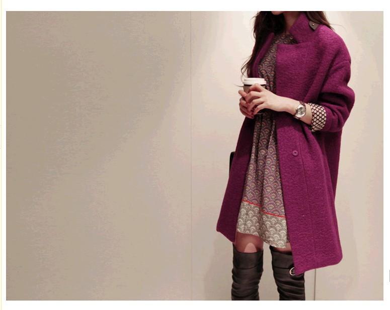 2014 winter new Korean Women loose big yards wool coat wommen female women tops women's coats long woolen - 365 days -(Fast Fashion ,Good Fit store)
