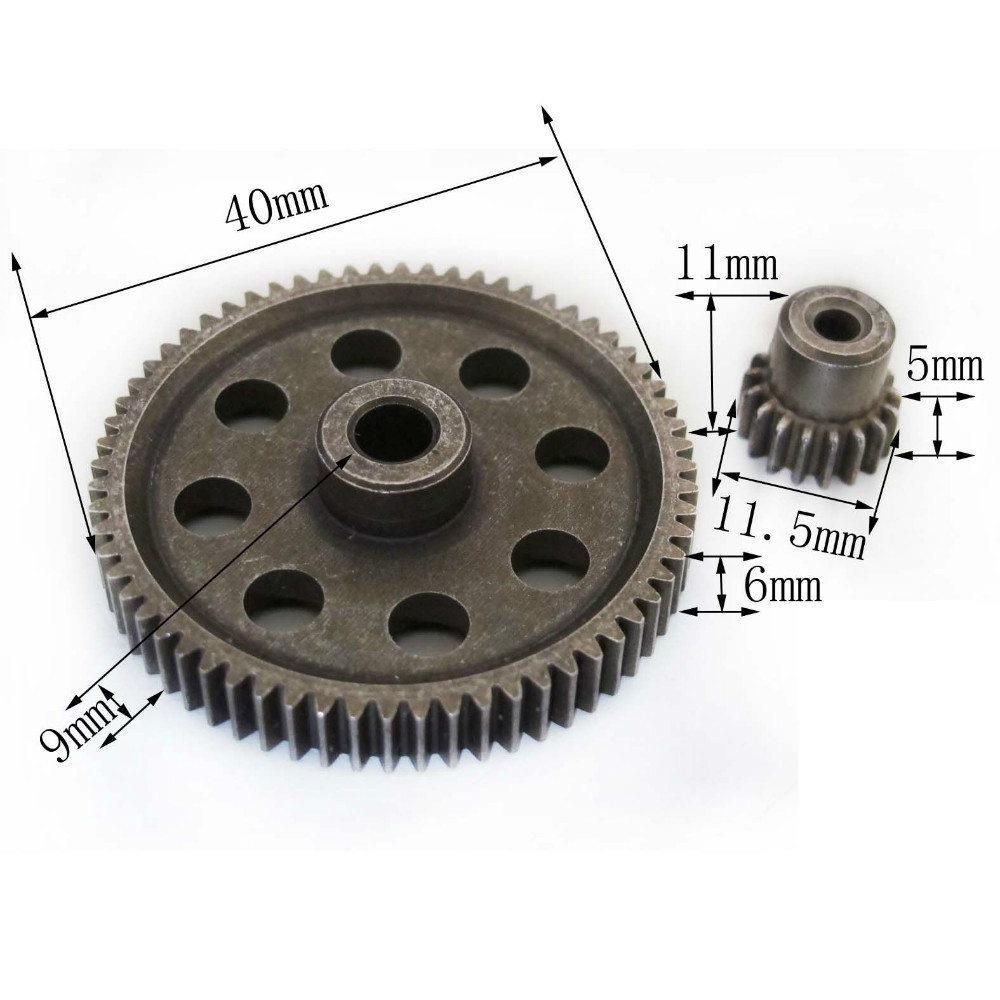 HSP RC 1/10 11184 & 11119 Differential Steel Metal Main Gear 64T Motor 17T - liang zhiqing's store