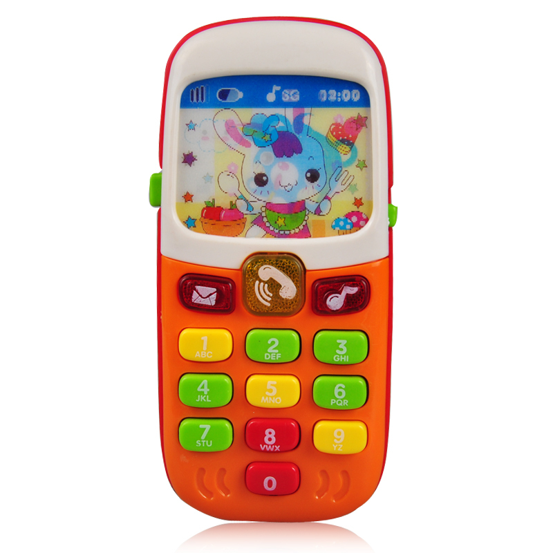 Kid Toy Phone Cellphone Mobile Phone Early Educational Learning Toys Machine Music Electronic Phone Model Infant Baby Toys(China (Mainland))