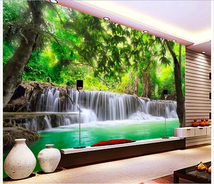 Customized 3d photo wallpaper 3d wall murals wallpaper for 3d murals for sale