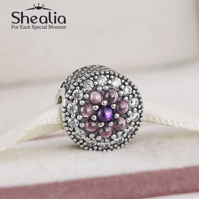 Разноцветные CZ вымостите ослепительная цветочные подвески 2016 новая коллекция весна 925 серебро изящные ювелирные Fit бусины браслеты DIY
