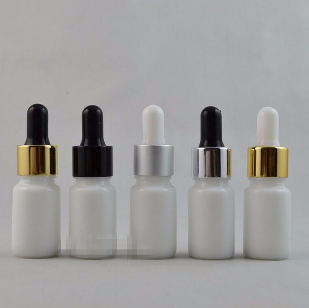 H1085 30Piece/lot 10ML White Color Glass Dropper Aromatherapy Essential Oil Perfume Refillable Packing Bottles(China (Mainland))
