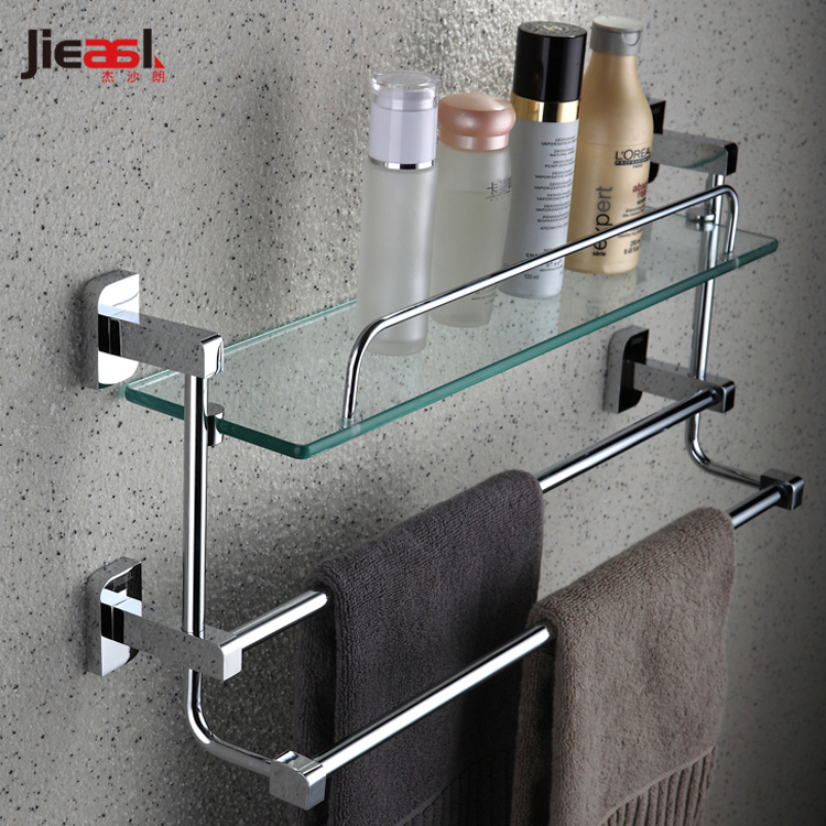 copper towel rack single tier belt double towel bar shelf