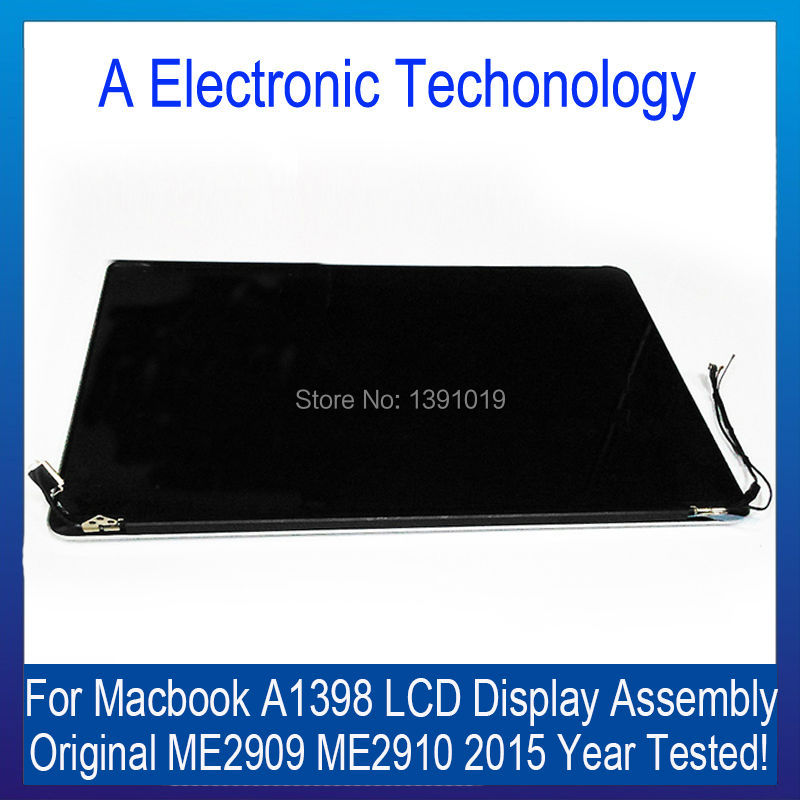 Tested A1398 For Apple Macbook Pro Retina 15'' Full Complete LCD Screen Display Assembly ME2909 ME2910 2017 Year