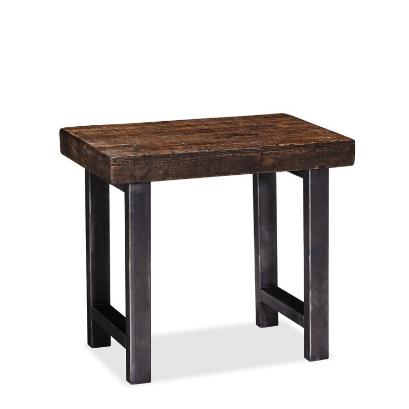 Can be customized American country to do the old retro wood wrought iron coffee table living room coffee table corner a few soli(China (Mainland))