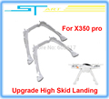 Free shipping 100 Original Upgrade High Skid Landing Spare parts for Walkera QR X350 Pro Suit