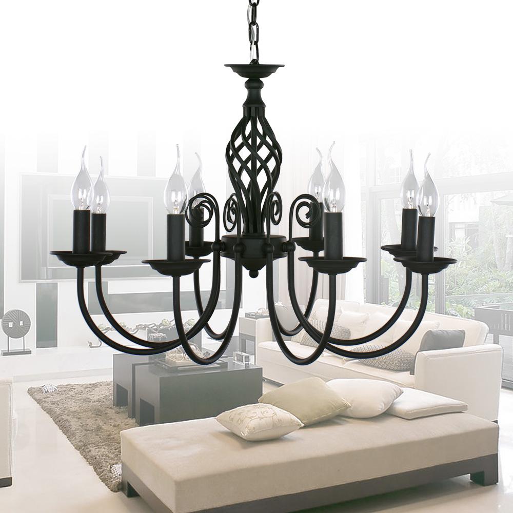 black painting LED chanandelier  LED  black chandelier lighting LED   lustre light<br><br>Aliexpress