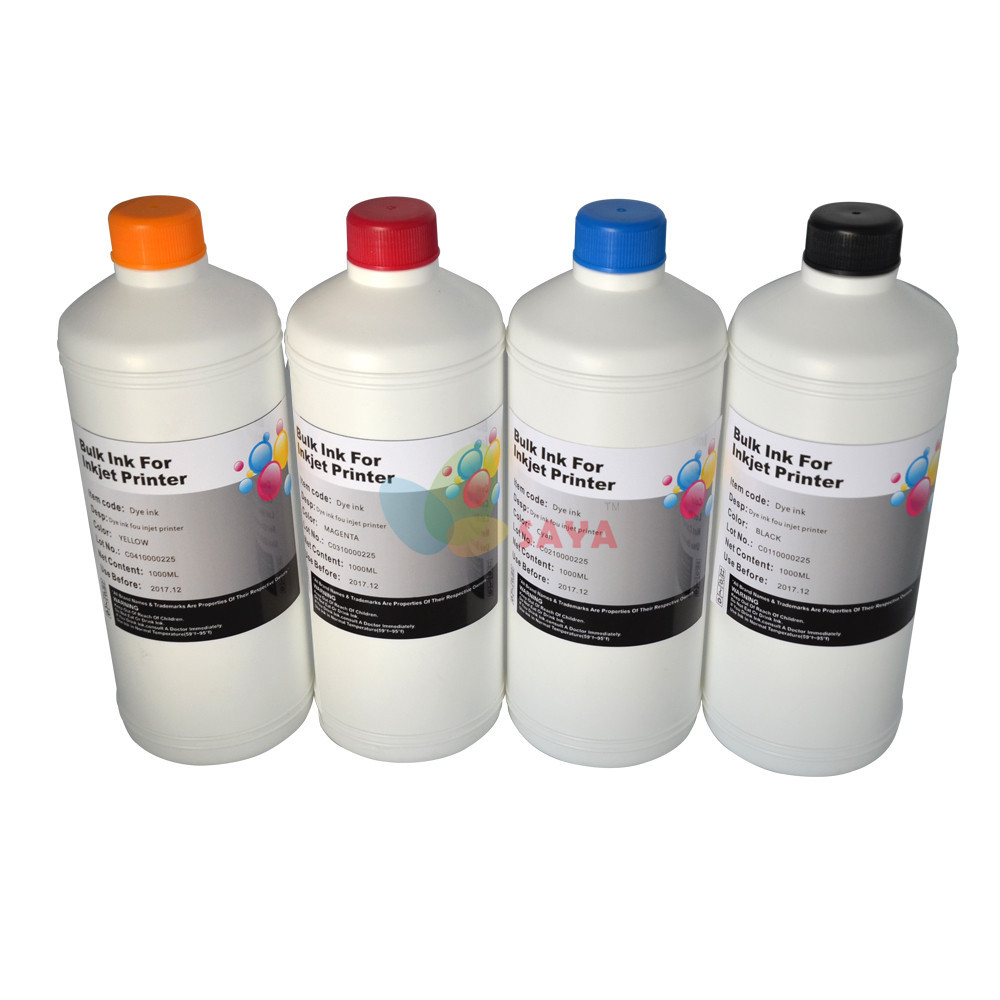 Hot Sublimation ink specialized suit for Epson printer 1000Ml Per color, 4L total especially suit for T-shirt ,phone shell, cups