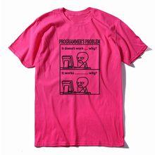 COOLMIND 100% כותנה מצחיק הדפסת מתכנת בעיה גברים T חולצה מקרית קיץ גברים חולצת טי רופף o-צוואר חולצה mens טי חולצות(China)