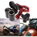 12 24V Motorcycle Scooter Handlebar Clamp Waterproof USB Charger With Cigarette Lighter Socket With blue light