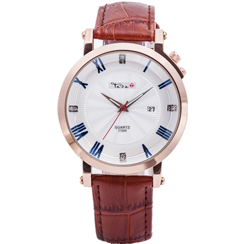 TADA Genuine Leather Strap Business Watch Quartz Luxury Sport Men/WOMEN Japan Movement relogio masculino - Spring Smiles Tada Co.,Ltd. store