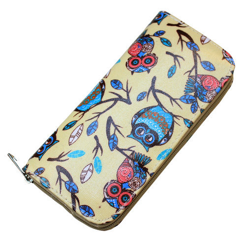 New Arrival Cute Owl Printing Rounded Zipper Long Women Wallet Ladies' Clutches Short Change Purses Card Holders(China (Mainland))