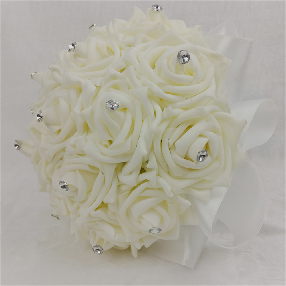 New customized silk pe rose flower wedding decoration for Aana decoration wedding accessories