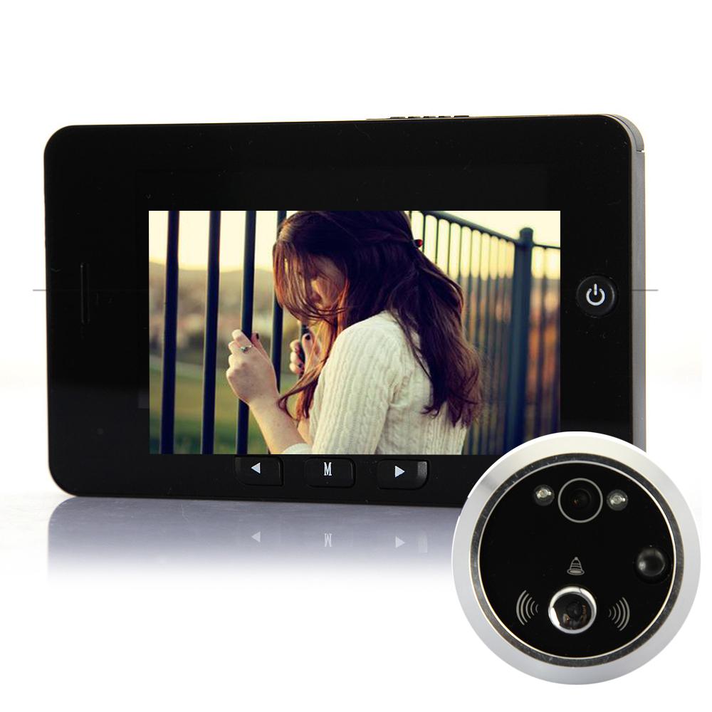 Digitale deur kijker 4,3 lcd-scherm bewegingsdetectie camera deur kijkgaatje camera deurbel kijkgaatje nachtzicht bewegingsdetectie(China (Mainland))