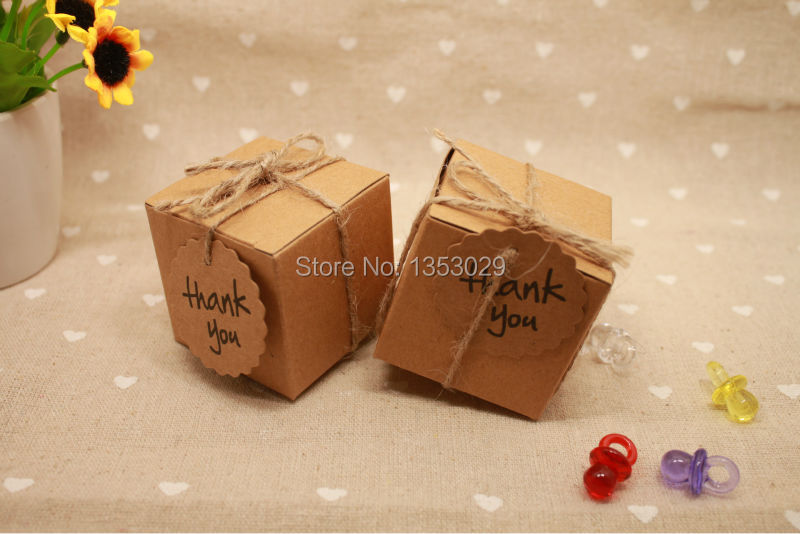 Kraft Paper Wedding Candy Box Vintage Wedding Decoration Rustic Wedding Centerpieces Event Party Supplies Baby Shower (25)