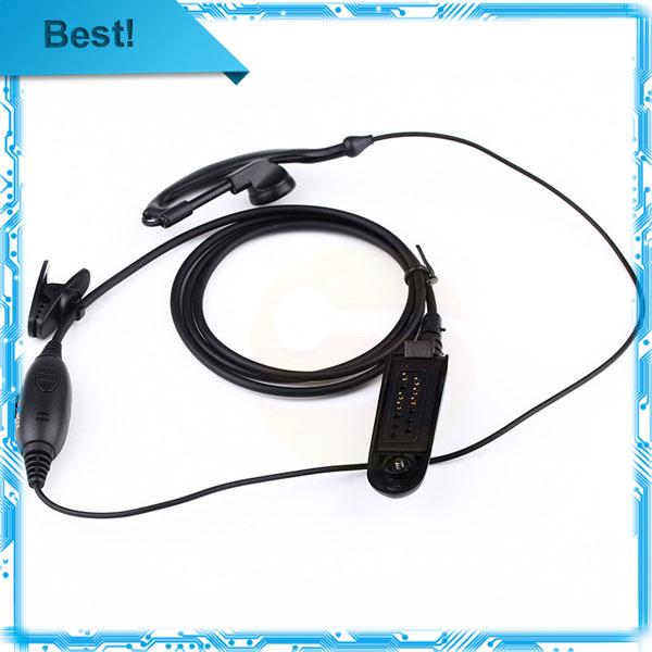 5pcs/lot New PTT VOX MIC Earpiece for Motorola Radio HT750 HT1250 GP328 GP329 GP340 GP380 MTX850 PRO5150 Black(China (Mainland))