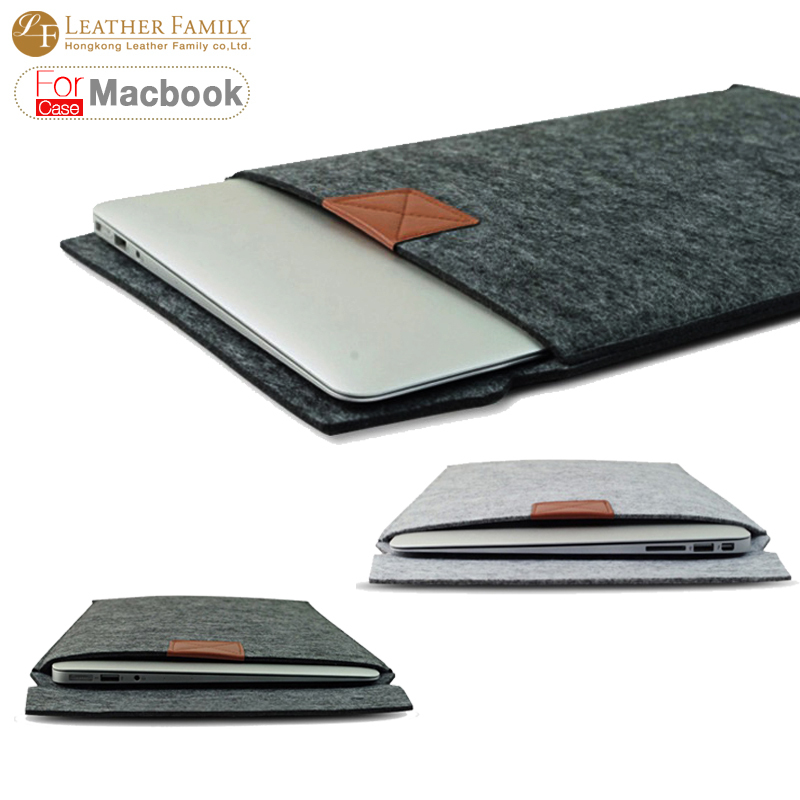 """Newest ! Fashion Laptop Cover Case For Macbook Pro/Air/Retina Notebook Sleeve bag 11""""13""""15"""" Wool Felt Ultrabook Sleeve Pouch Bag(China (Mainland))"""