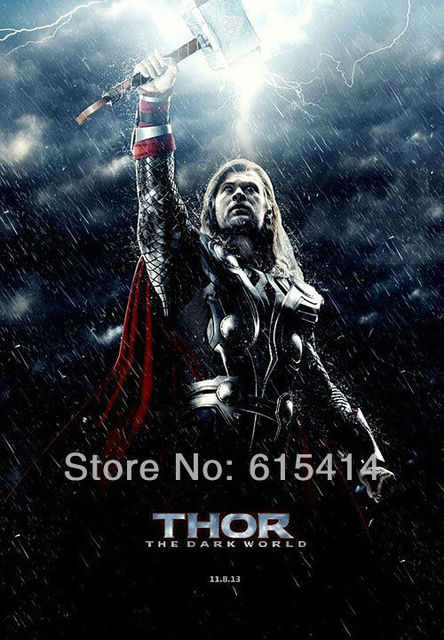 "15 Thor 2 The Dark World 2013 movie 14""x20"" inch wall Poster with Tracking Number"