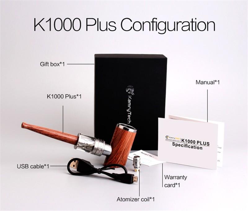 ถูก อีท่อKamry K1000พลัสไม้ท่อVapeปากกาบุหรี่อิเล็กทรอนิกส์ชุดEมอระกู่Vaporizerที่มีเครื่องฉีดน้ำK1000 E-บุหรี่X1034