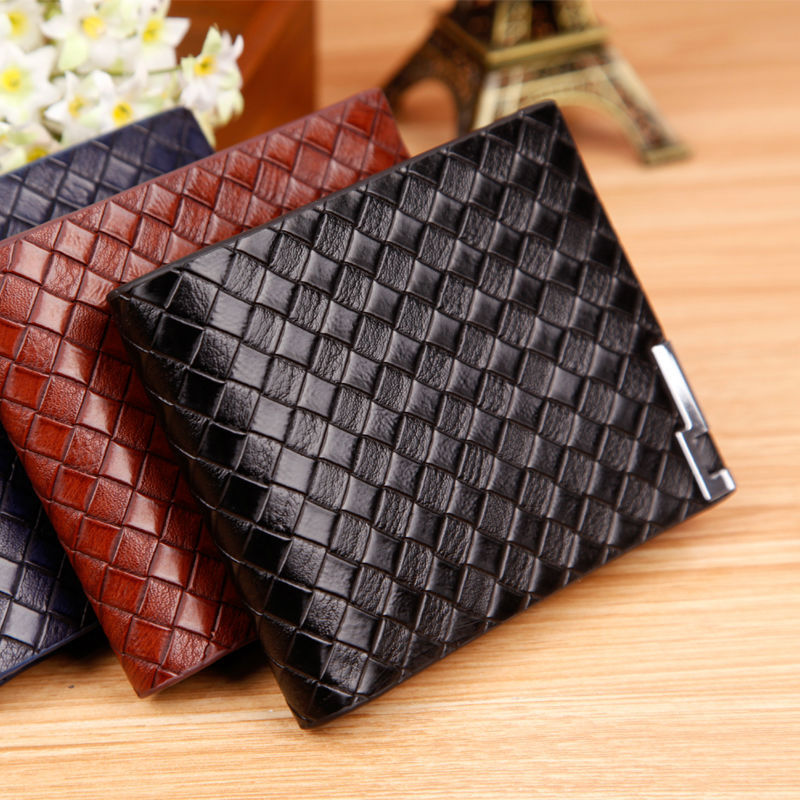 New quality casual men's short purses brand famous card holder fashion male wallets coin pocket vintage design boy gift wallts(China (Mainland))