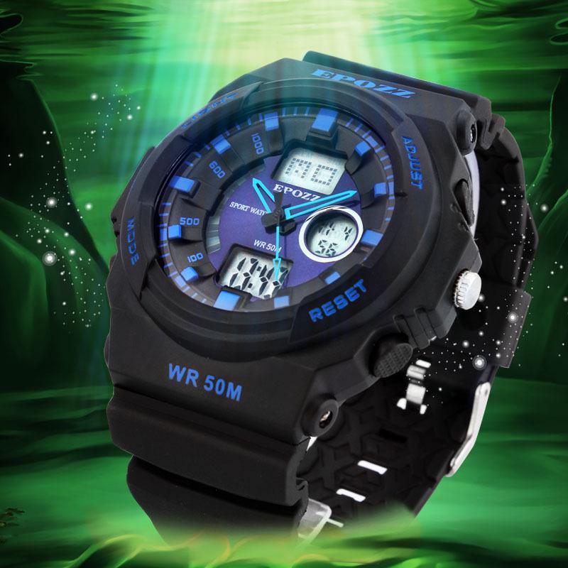 EPOZZ 12 Months Guarantee Men Sports Watches Relojes Deportivos Military Army Multifunction Wristwatch 50M Resistant Anti Frozen<br><br>Aliexpress