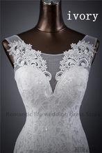 מכירה לוהטת משלוח חינם אלגנטי יפה תחרה פרחי בת ים שמלות כלה vestidos דה noiva robe de mariage כלה שמלה(China)