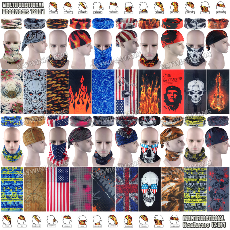 Free Shipping 10pcs/lot Assorted Fashion Designs 100% Polyester Microfiber Breathable Seamless Tubular Multifunctional BandanasОдежда и ак�е��уары<br><br><br>Aliexpress