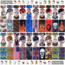 Free Shipping 10pcs Fashion Breathable Microfiber UV Protection Seamless Tubular Skull Headwear Outdoor Multifunctional Bandana(China (Mainland))