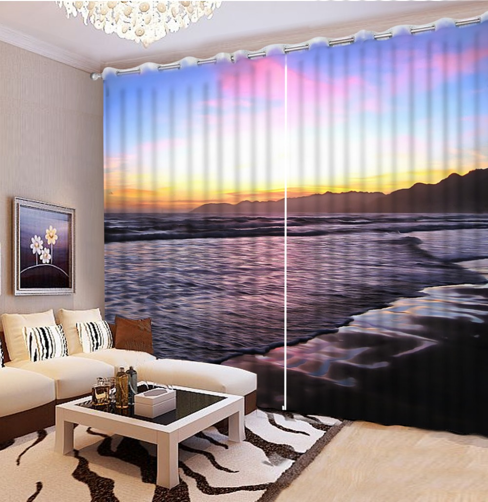 Printed Curtains Living Room Online Get Cheap Wave Print Curtains Aliexpresscom Alibaba Group