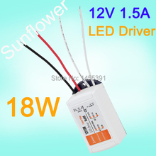 Free Shipping  12V DC 18W Power Supply LED Driver Adapter Transformer Switch For LED Strip LED Light Bulb Wholesale(China (Mainland))