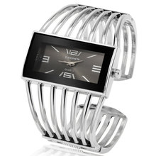 CANSNOW Womens Watch Luxury Fashion Rose Gold Bangle Bracelet Watch Women Dress Clock Female Lady Saati Girls Wristwatch Relojes(China)