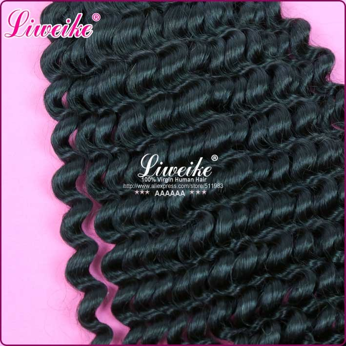 Retail 1pieace: brazilian hair products 12″-30″ brazilian virgin hair extension deep wave Natural color + DHL free shipping