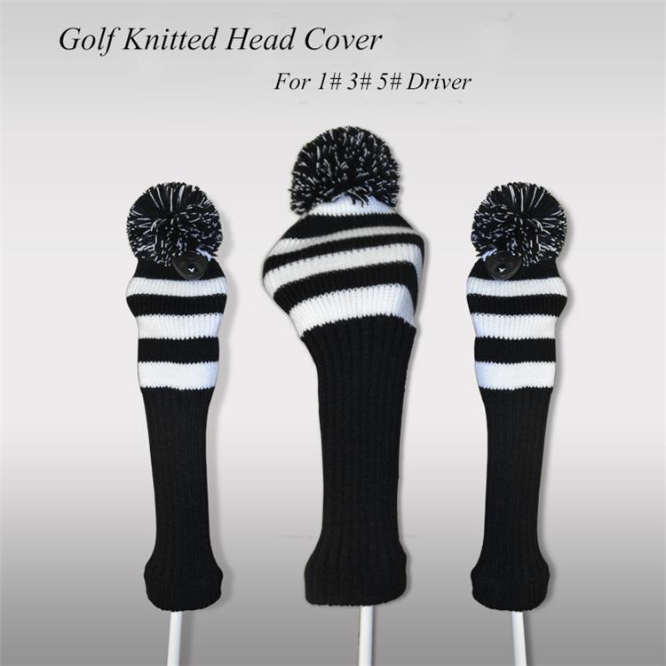 Aliexpress.com : Buy Black And White 3pcs/set Knitted Maya Pattern Headcover ...