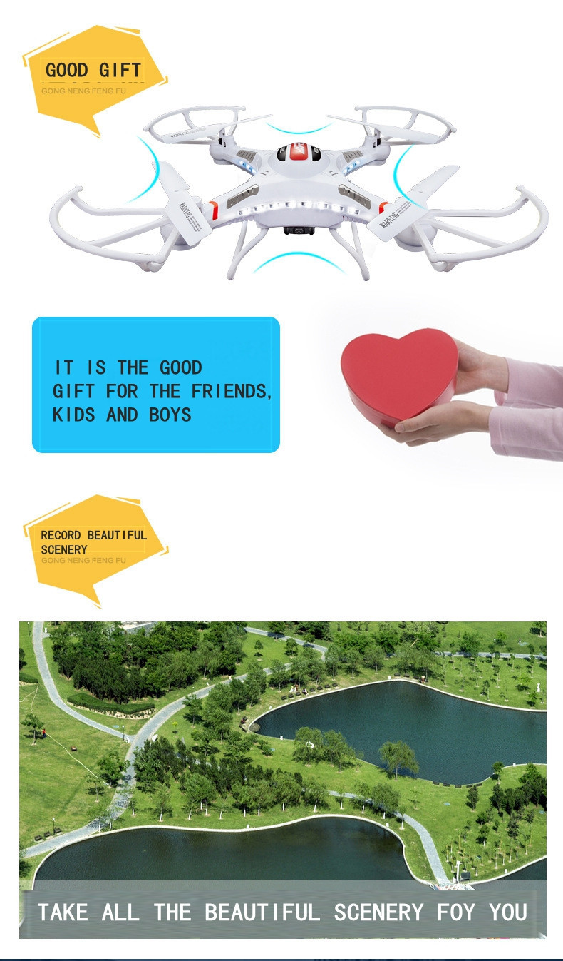 JJRC H8C Rc Drone Flying Camera Helicopter Radio Control Rc Quadcopter Drone Remote Control Toy With 0.3MP HD Camera