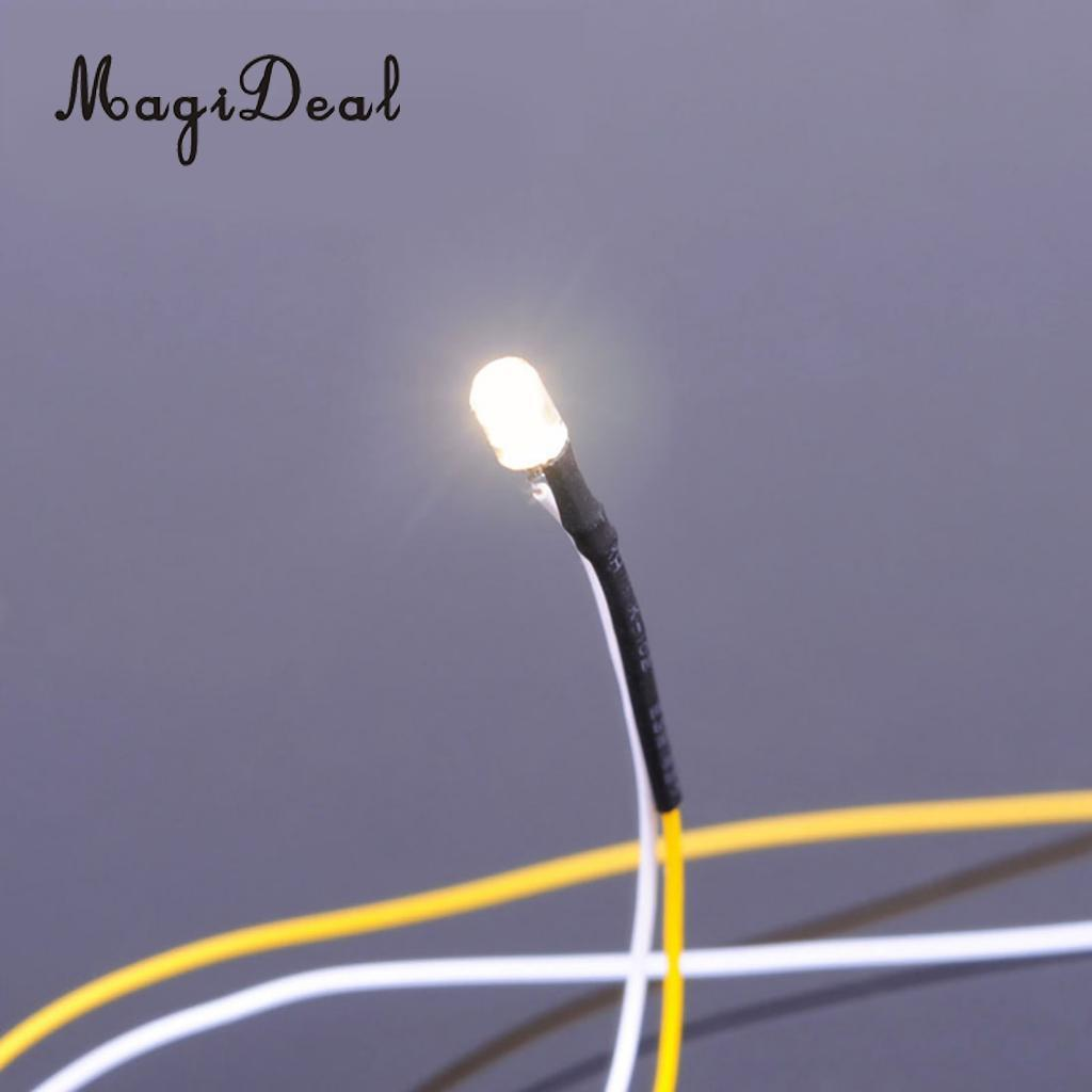 MagiDeal 5Pcs LED Light Cool Lighting Wire Cable for DIY Sand Table Diorama Architecture Building Park Garden Street Lamp Scene