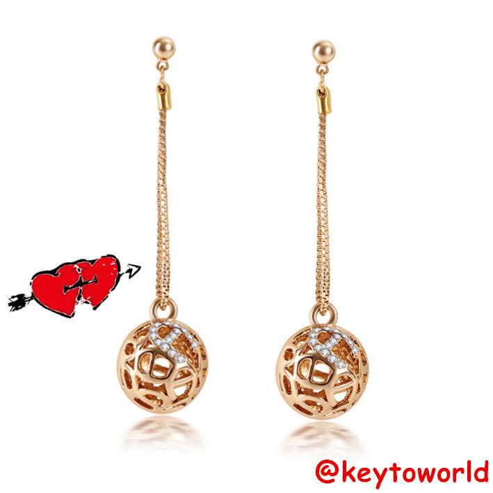 Korean Styles Long Earring Gold Plated Bohemian Earrings Ethical Style Earrings In Drop Earrings
