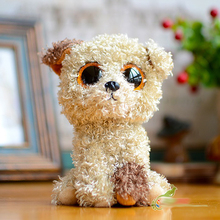 Ty Big eyes Beanie Boos Kids Baby Colorful Teddy Dog Cute Plush Toys Lovely Children's Gifts Kawaii Poodle Stuffed Animals Dolls
