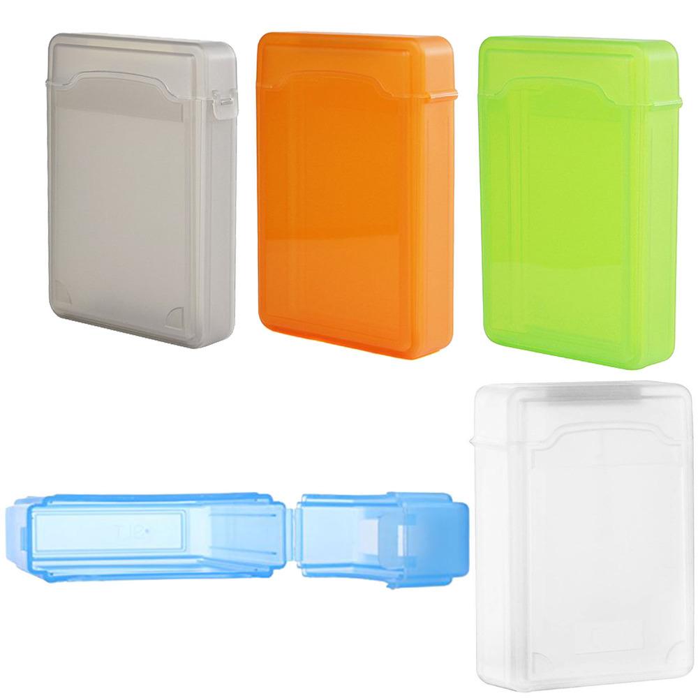 New High Quality Portable 2.5inch 3.5 inch IDE SATA Hard Drive Disk Plastic Storage HDD Box Case Protector Enclosure Fashion(China (Mainland))