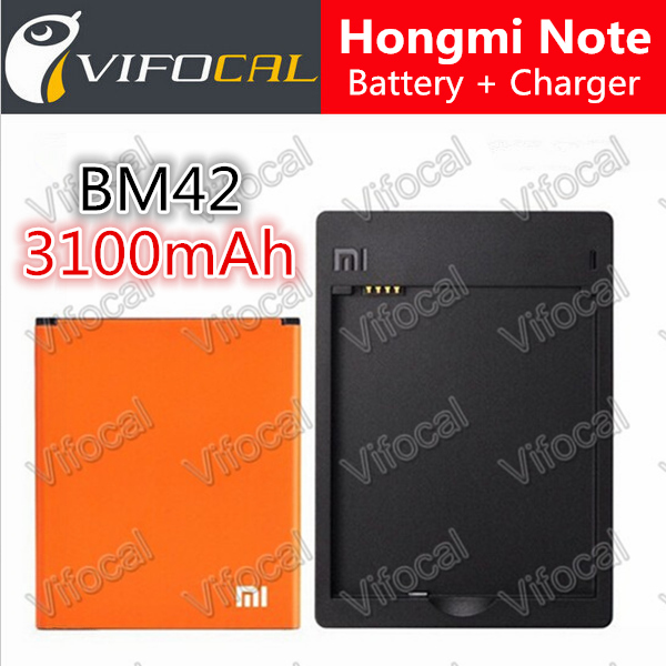 BM42 Xiaomi Redmi Note Battery Wall Charger BM42 3100mah 100 New Replacement Backup Battery For Hongmi