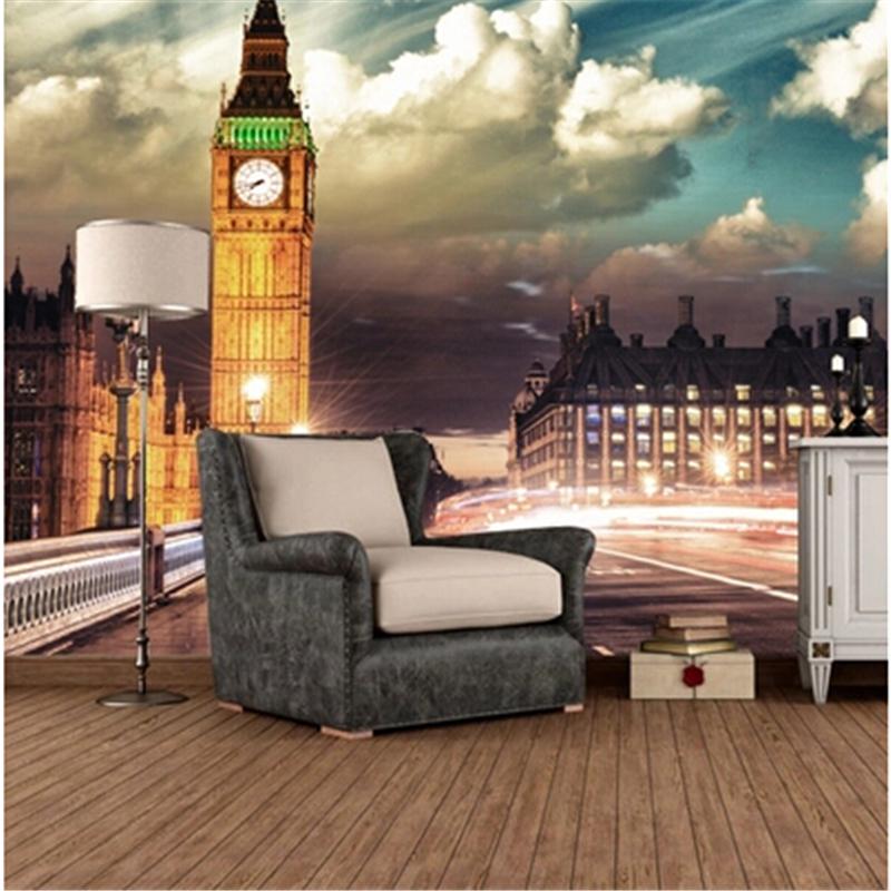 Online kaufen gro handel fototapete london aus china - Wohnzimmer lounge ...