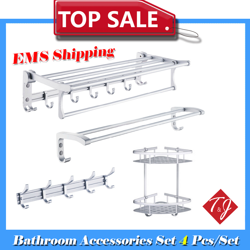 4pcs EMS Free shipping Bath Accessories Set Deluxe Edition bath accessories for bathroom accessories para banheiro(China (Mainland))