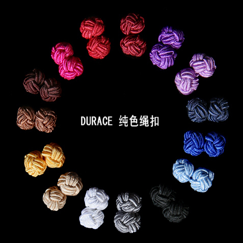 15 color rope buckle into the simple popular men's French special cufflinks shirts