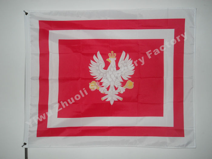 Flag Of The Marshal Of Poland 120X100cm 100g 100D Polyester Double Stitched High Quality Banner Ensign Free Shipping(China (Mainland))