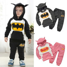 Autumn 2colors kids sport wear Baby Clothing Set girls Boys sport suit Baby Clothes Baby Garment Sport Suit Fashion Batman Set(China (Mainland))