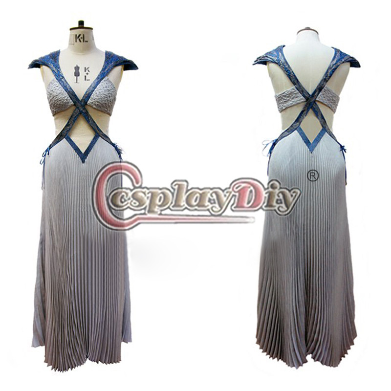 Game of thrones Season 5 Daenerys Targaryen Dress Cosplay Costume For Carnival Custom Made D0617