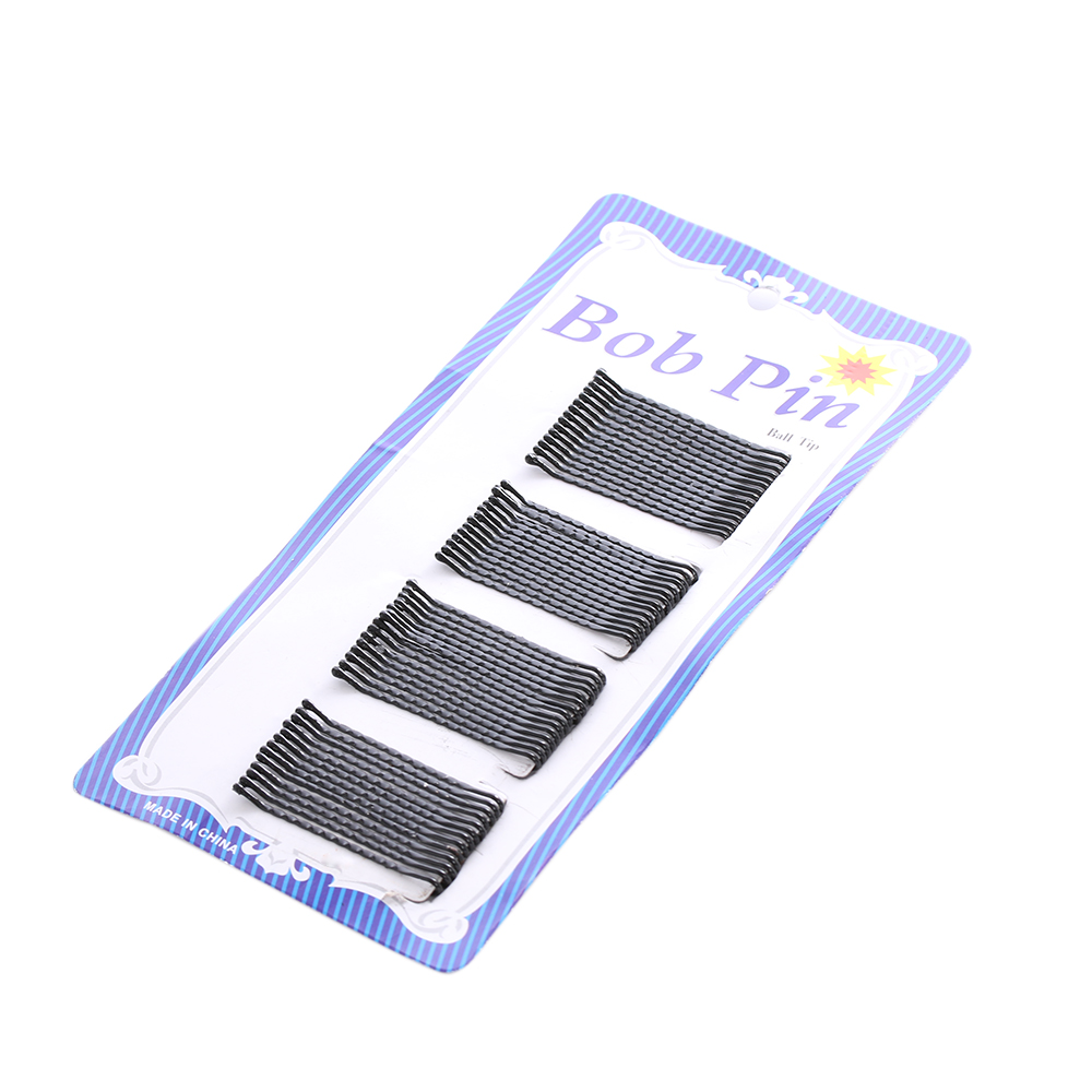 60PCS HOT Sale Women Grils Lot Black Metal Waved Hair Bobby Clip Salon Pin Grip Hairpin Barrette Hair Band Accessories